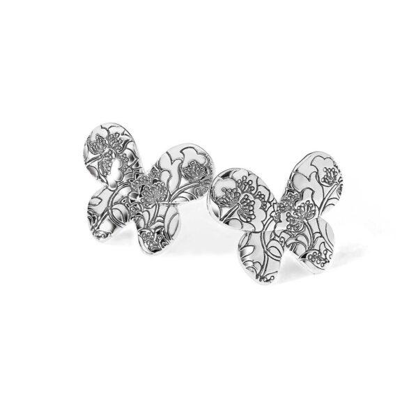 orecchini comete farfalle argento