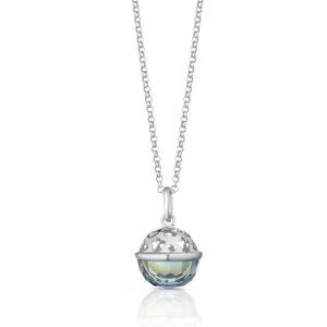 collana chiama angeli argento con cristallo