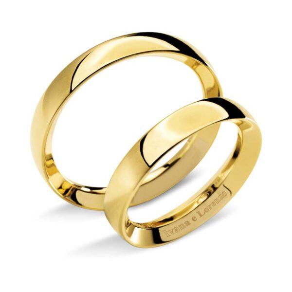 fede matrimonio in oro giallo