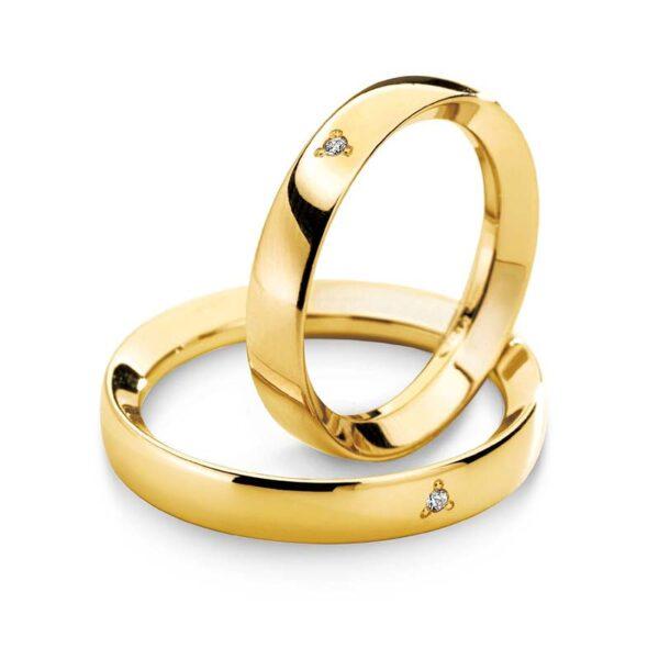 fede oro giallo con diamante