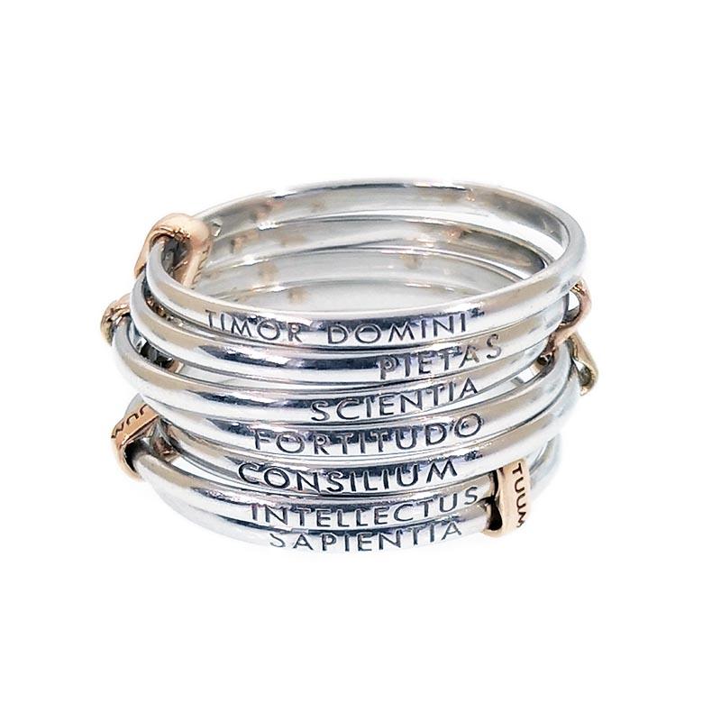 anello tuum settedoni argento oro rosa