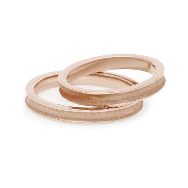 fede matrimonio comete oro rosa