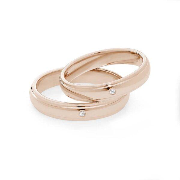 fede matrimonio comete oro rosa e diamante