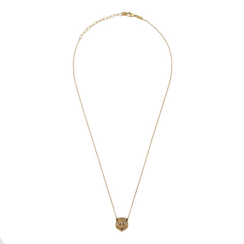vasta selezione di 595b9 0346f Collana Tigre Gucci Le Marché des Merveilles Oro Giada e Diamanti