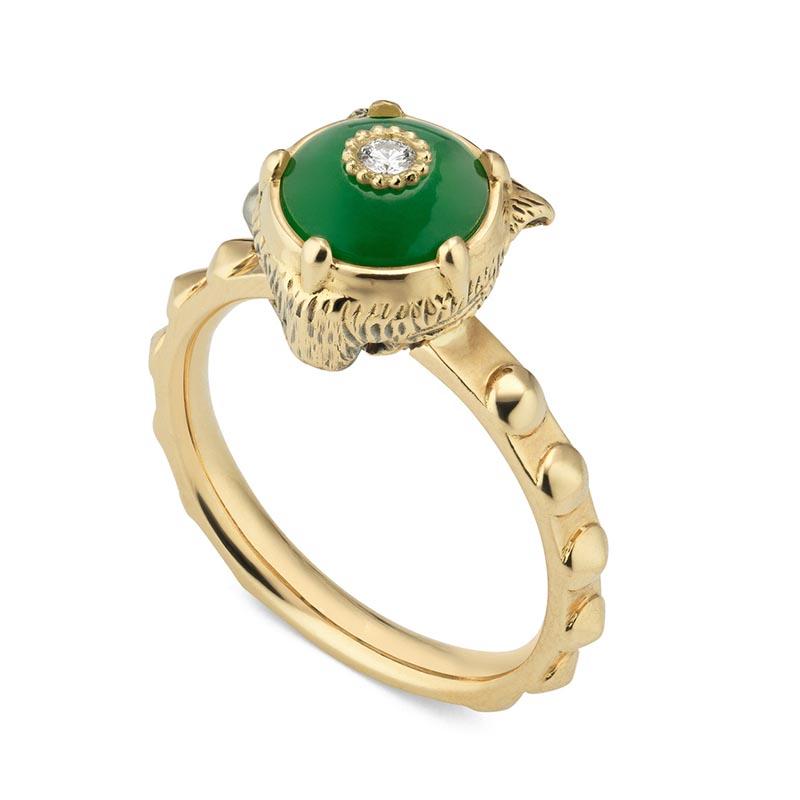 new products 00e63 03b03 Anello Gucci Le Marché des Merveilles Oro Giada e Diamanti
