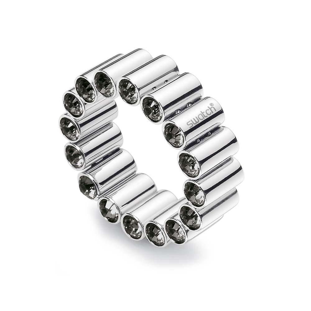 anello fascia swarovski neri