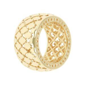 anello donna fascia alta oro