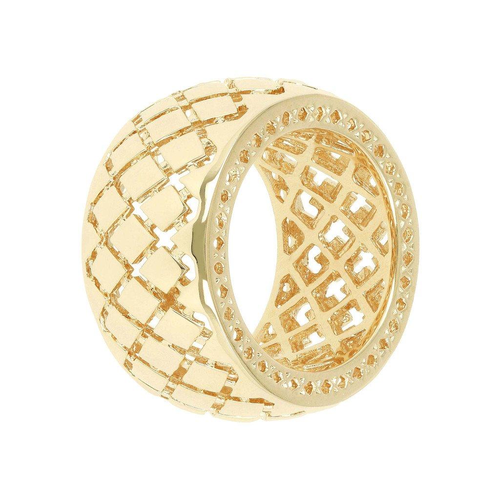 eccezionale gamma di stili e colori Scoprire marchi riconosciuti Anello Fascia Bronzallure Oro Giallo traforato