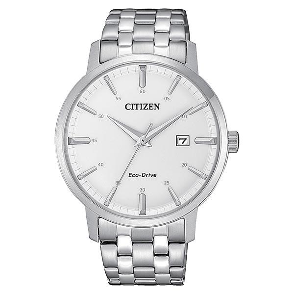 orologio citizen classic ecodrive data acciaio bracciale quadrante bianco