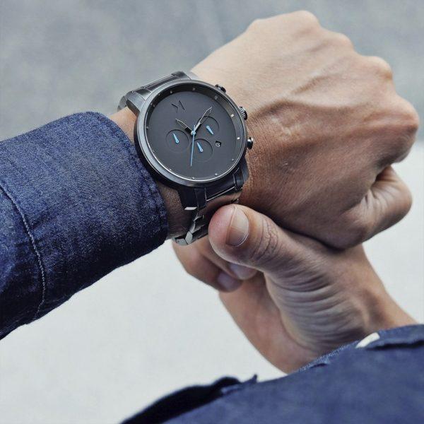 orologio uomo nero antracite crono
