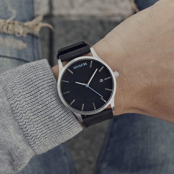 orologio mvmt logo azzurro