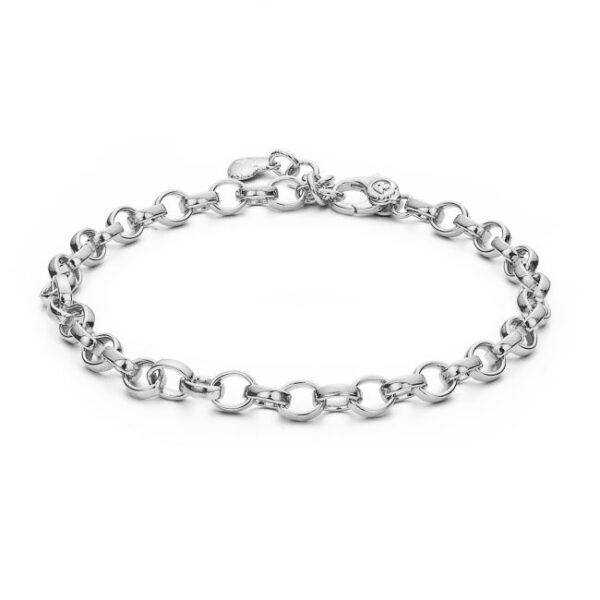 bracciale catena argento bianco rosato
