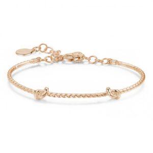 bracciale rigido per charms in argento oro rosa