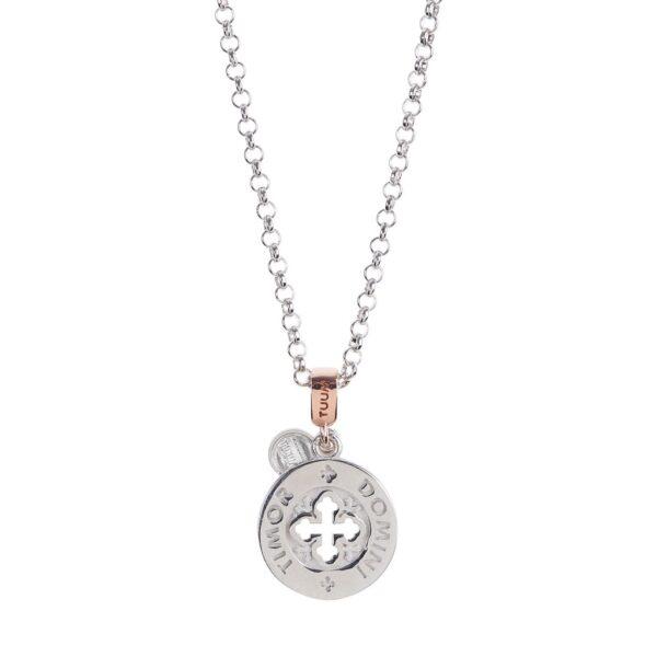 collana dono tuum argento e oro rosa timor domini