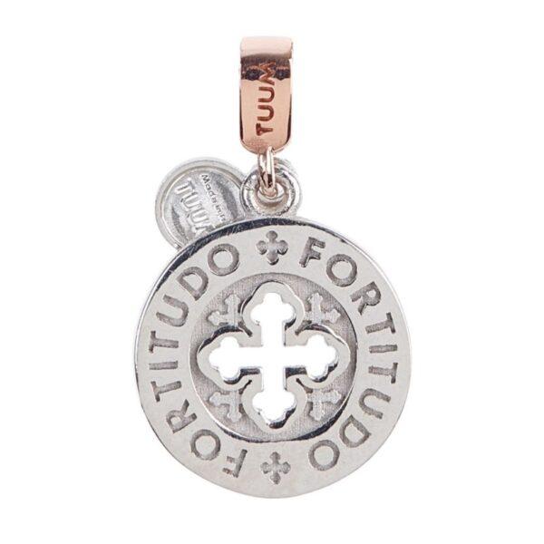 ciondolo dono tuum settedoni argento oro fortitudo