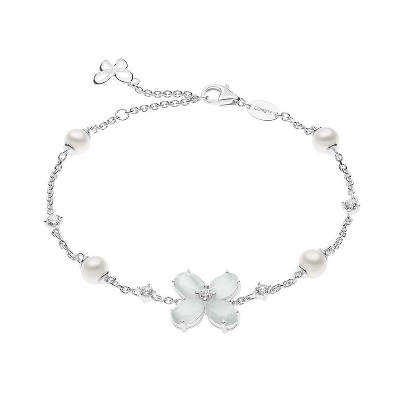 bracciale farfalle fiore argento e cristalli comete