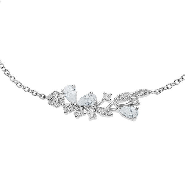 bracciale farfalle comete wedding argento cristalli