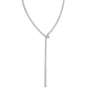 girocollo tennis farfalla comete in argento