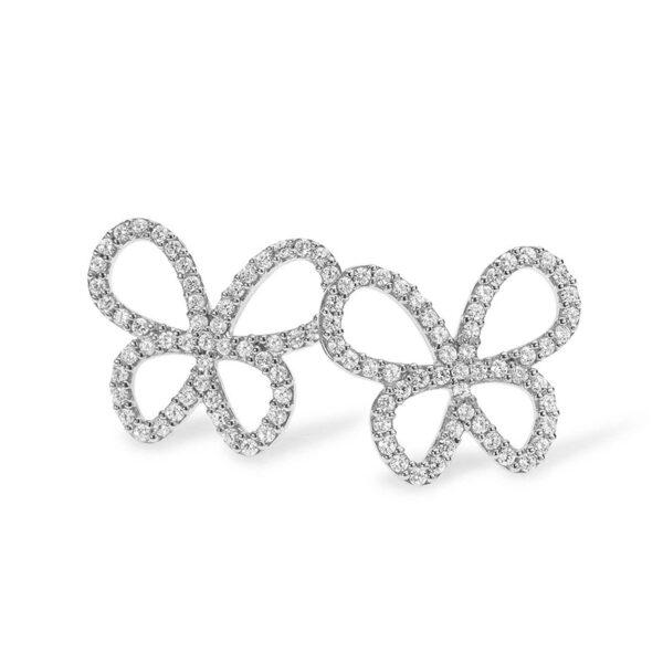 orecchini punto luce comete farfalle argento