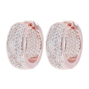 orecchini anella bronzallure rosè tone zirconi