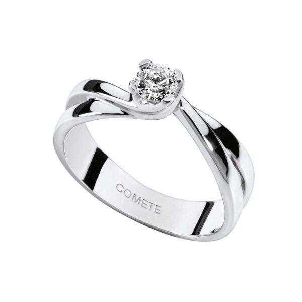 anello solitario comete oro bianco lovelight