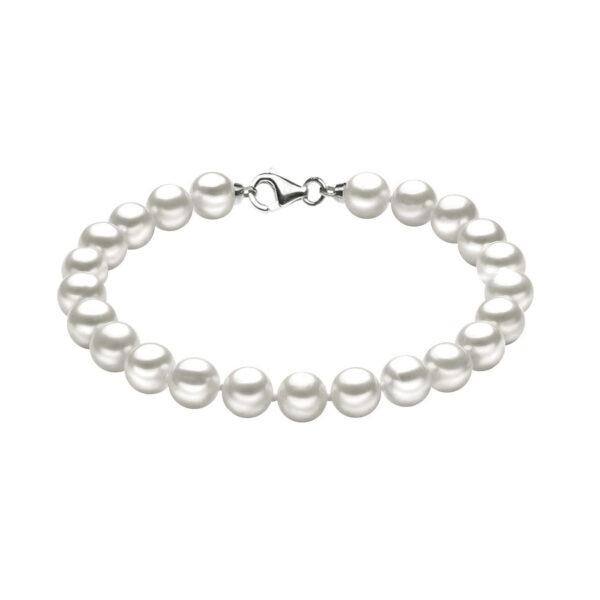 bracciale comete perle bianche tonde acquadolce coltivate