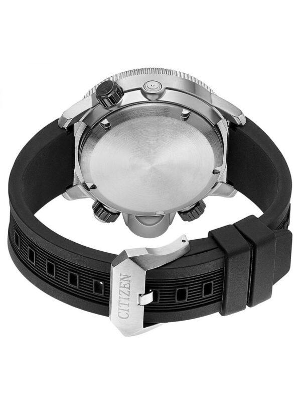 orologio uomo citizen aqualand ecodrive promaster acciaio quadrante nero cinturino poliuretano data diver