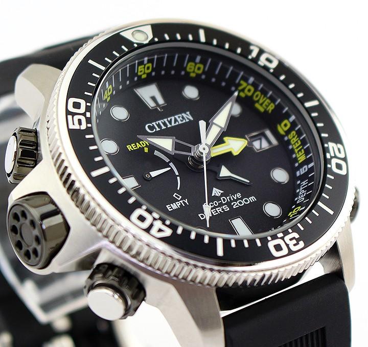 online retailer 61daa 21e4f Orologio Citizen Aqualand Eco-Drive Promaster Diver's Acciaio con Cinturino  in Poliuretano e Quadrante Nero