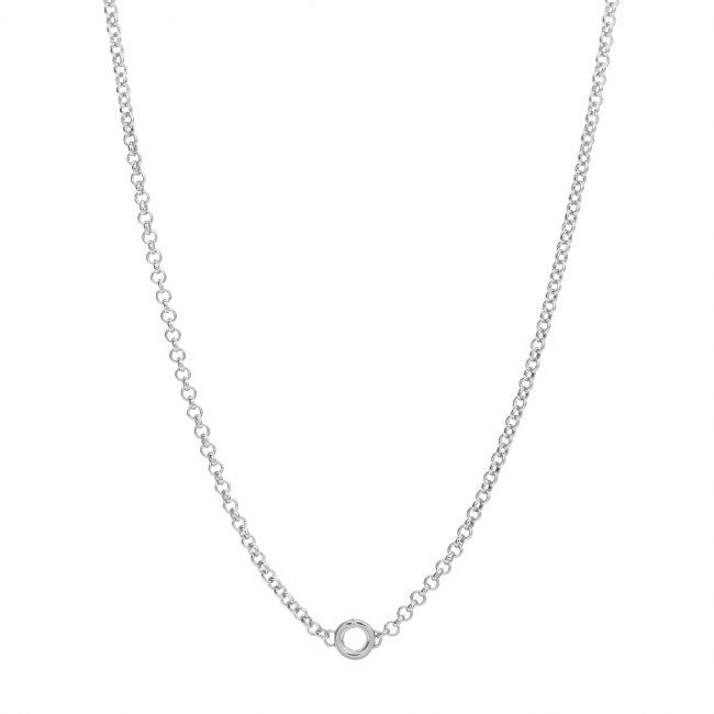 catenina argento rosato