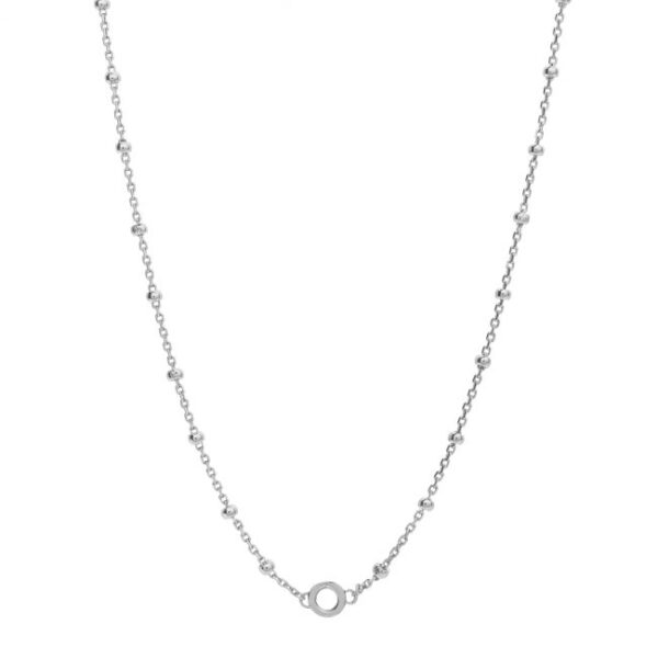 collana catena palline per ciondolo charm argento rosato