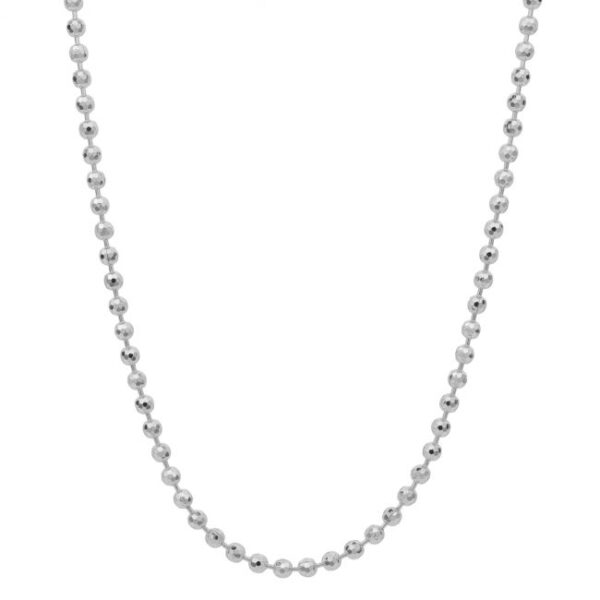 collana palline argento bianco per ciondoli charm