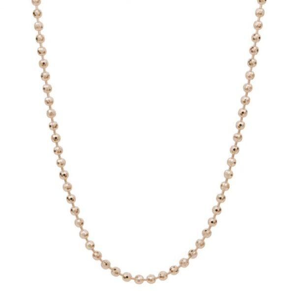 collana palline argento rosato per ciondoli charm