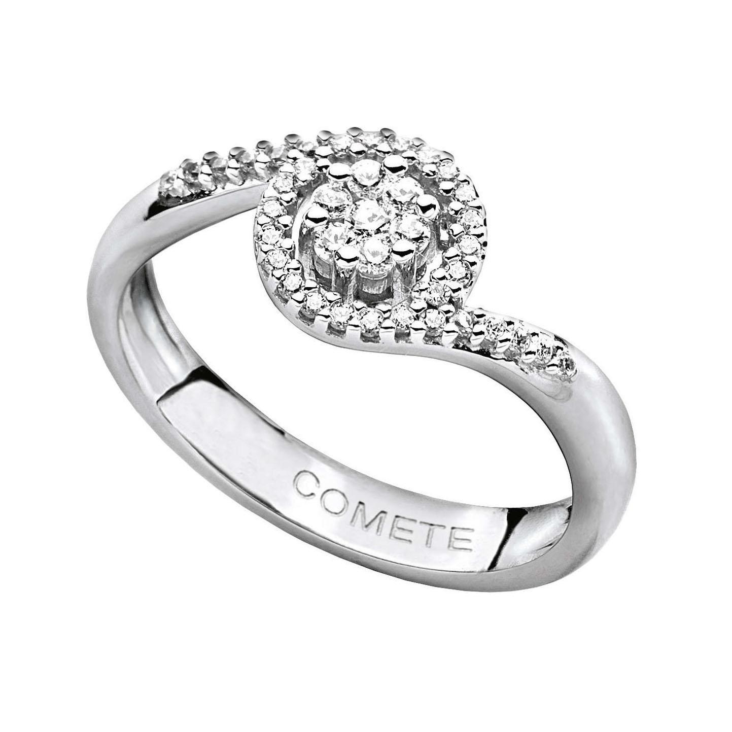 anello rosa diamanti oro bianco comete