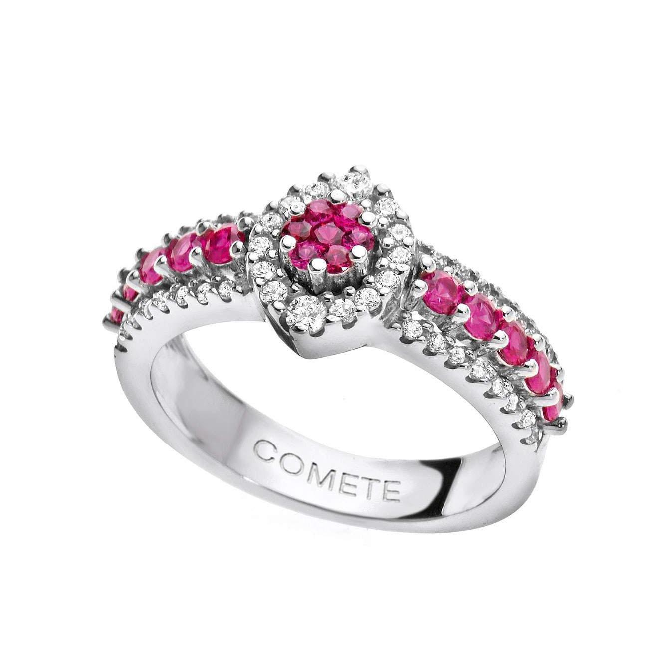 anello comete gioielli rubini diamanti