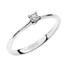 anello solitario oro bianco diamante