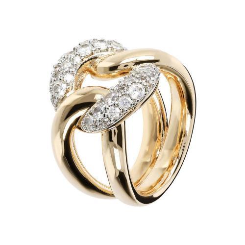 anello gold oro bronzallure zirconia cubica