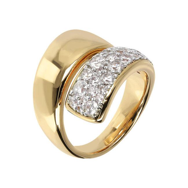 anello bronzallure placcato oro giallo zirconi