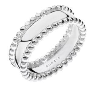 anello comete gioielli fascia argento pallini