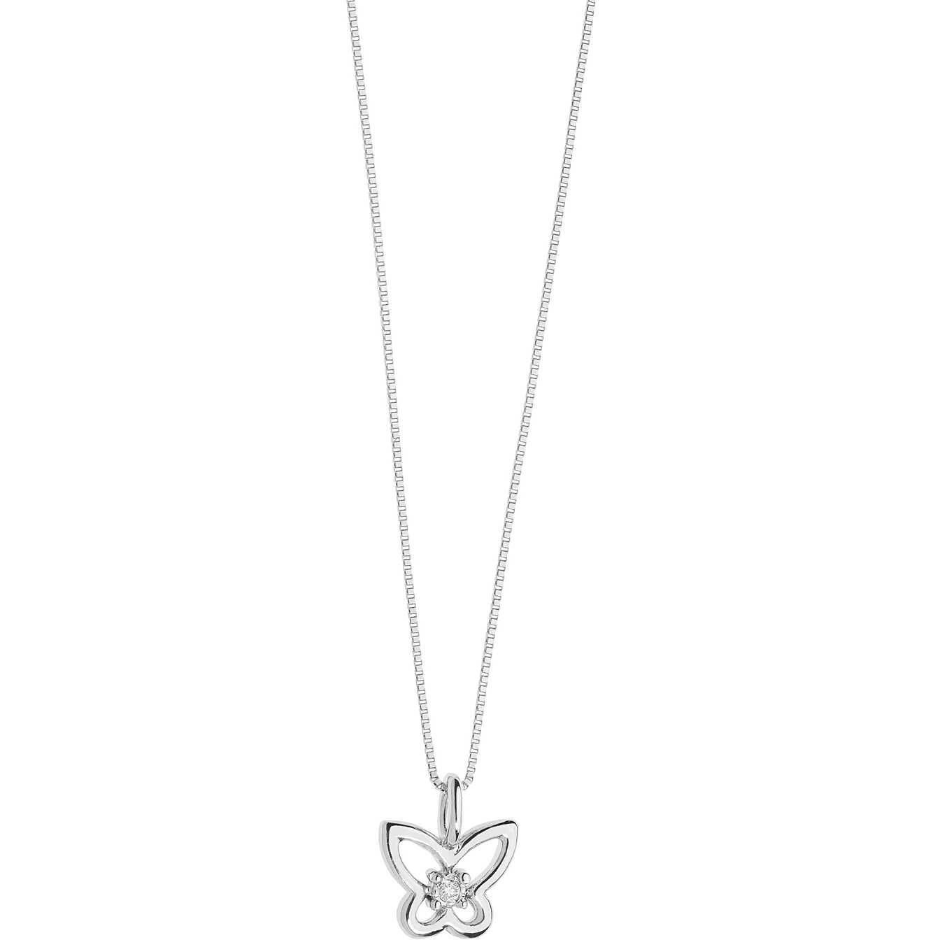 collana comete oro bianco simboli farfalla diamante
