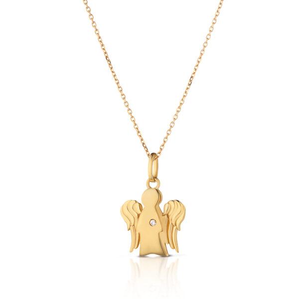 collana giannotti pendente angelo oro giallo con diamante