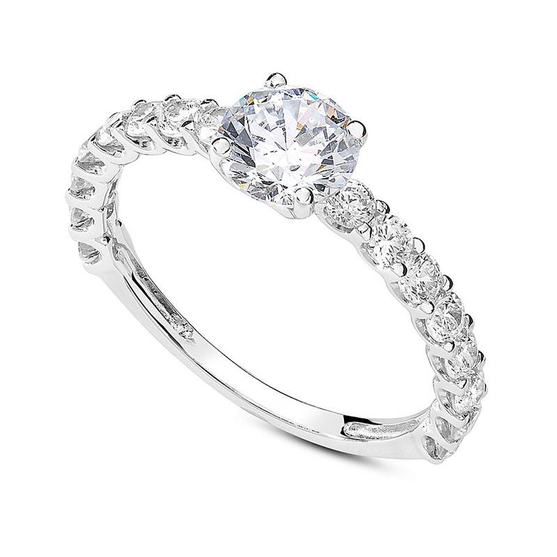 anello fidanzamento oro bianco