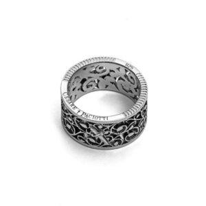 anello fascia gotica cesare paciotti argento vintage