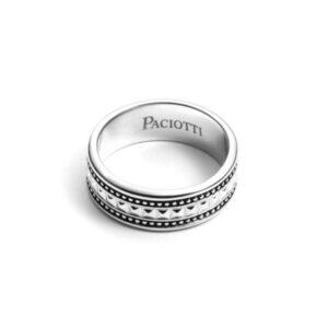 anello fascia cesare paciotti argento