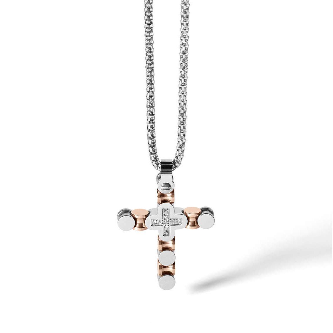 vendita calda autentica retrò Super carino Collana Comete Uomo con Crocifisso e Diamanti