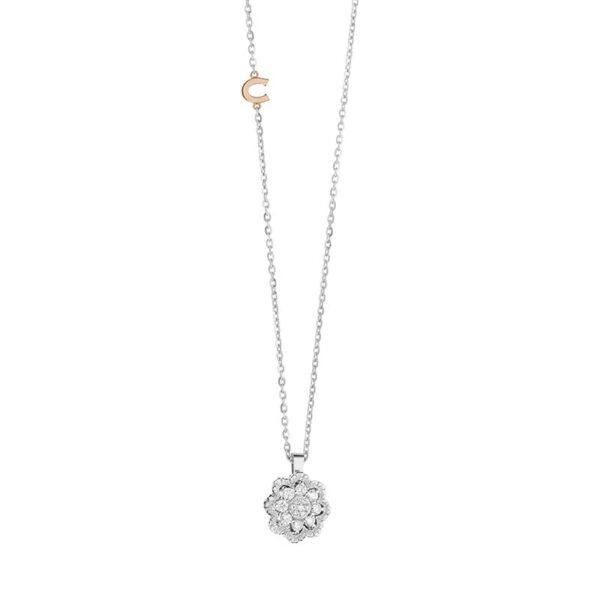 collana comete ciondolo trasformabile oro diamanti