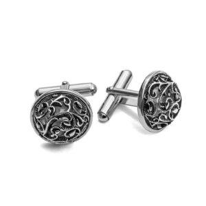 gemelli cesare paciotti argento galvanica motivo gotico