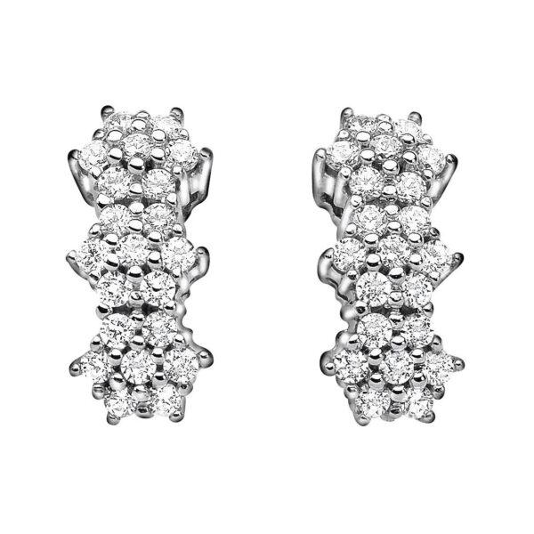 orecchini comete trilogy oro bianco rose di diamanti