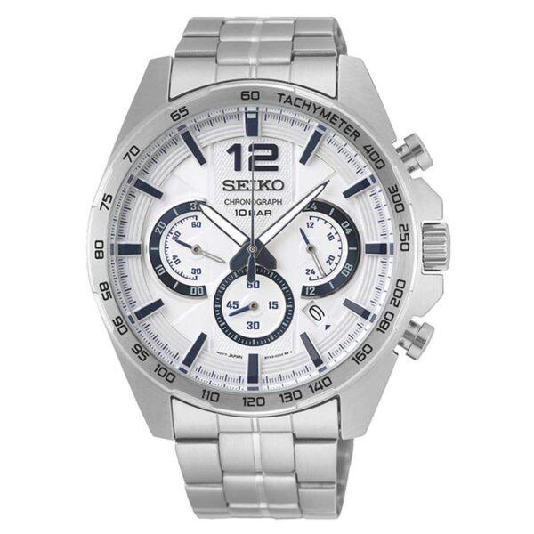orologio uomo cronografo seiko sport bianco