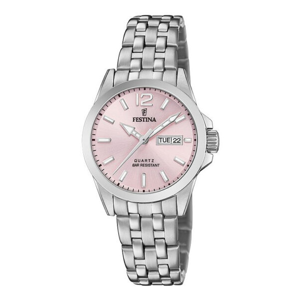 orologio festina donna accaio quadrante rosa