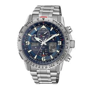 orologio citizen uomo skyhawk radiocontrollato chrono ecodrive blu supertitanio